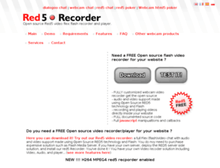 red5-recorder.com screenshot