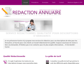 redaction-annuaire.com screenshot