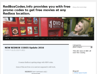 redboxcodes.info screenshot