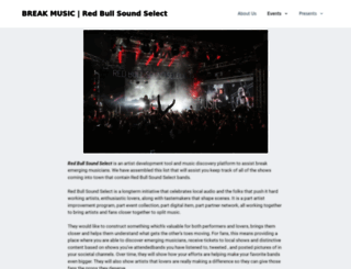redbullsoundselect.com screenshot