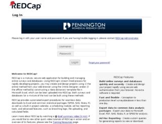 redcap.pbrc.edu screenshot