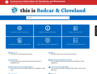 redcar-cleveland.gov.uk screenshot