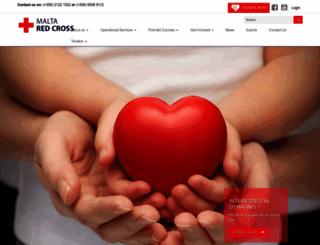 redcross.org.mt screenshot