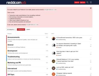 reddcointalk.org screenshot