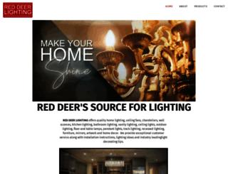 reddeerlighting.com screenshot