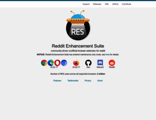 redditenhancementsuite.com screenshot