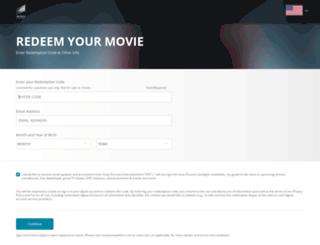 redeem.sonypicturesstore.com screenshot