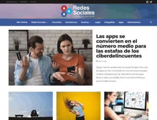 redes-sociales.com screenshot