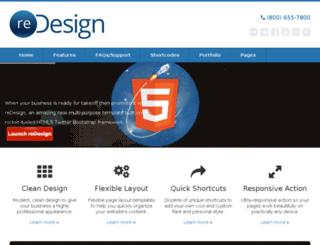 redesign.themeleaf.com screenshot
