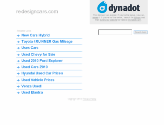 redesigncars.com screenshot