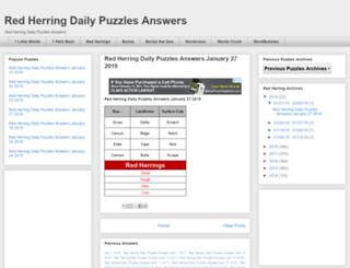 redherringdailypuzzles.blogspot.in screenshot