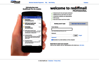 rediffmailpro.com screenshot