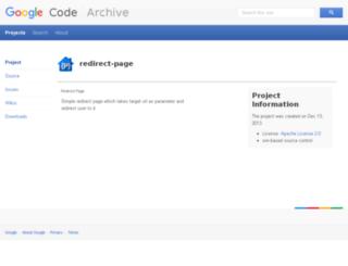 redirect-page.googlecode.com screenshot