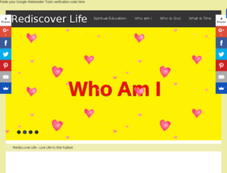 rediscoverlife.in screenshot