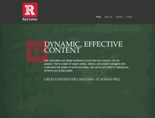 redlettercontent.com screenshot