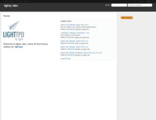 redmine.lighttpd.net screenshot
