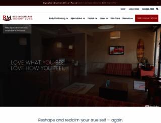 redmountainmedspa.com screenshot