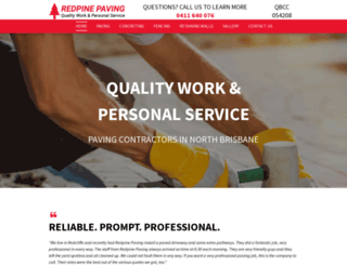 redpinepaving.com.au screenshot