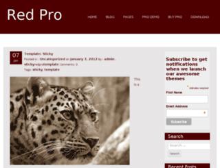 redpro.fasterthemes.com screenshot