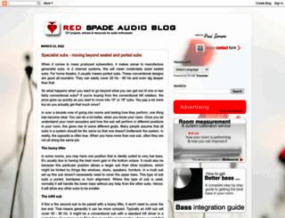 redspade-audio.blogspot.com screenshot