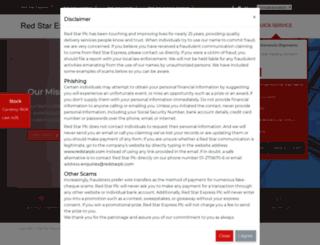 redstarexpress-ng.com screenshot