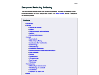 reducing-suffering.org screenshot