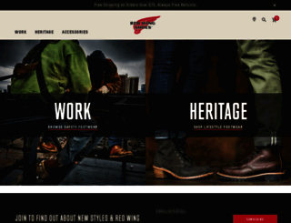 redwingshoes.com screenshot