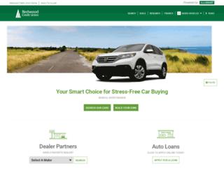 redwoodcu.cudlautosmart.com screenshot