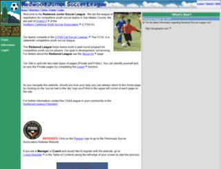 redwoodsoccer.org screenshot