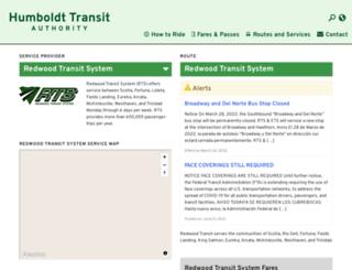 redwoodtransit.org screenshot