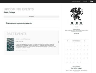 reed.ticketleap.com screenshot