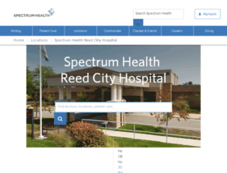 reedcity.spectrum-health.org screenshot