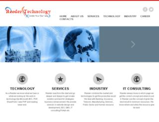 reedertechnology.com screenshot