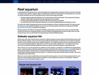 reefaquarium.com screenshot