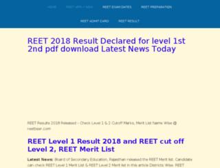 reet2015exams.in screenshot