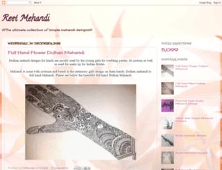 reetmehandi.blogspot.com screenshot