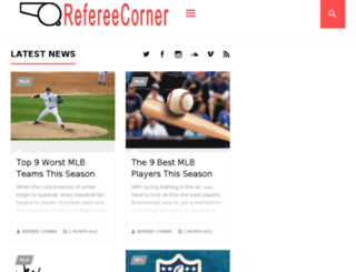 refereecorner.com screenshot