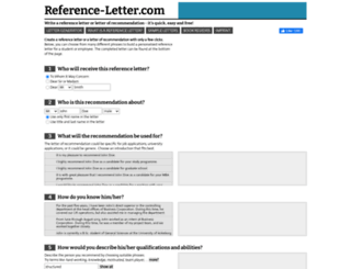 reference-letter.com screenshot