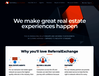 referralexchange.com screenshot