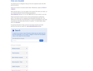referraltool.insurancecouncil.com.au screenshot