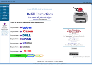 refillinstructions.com screenshot