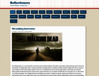 reflectionary2013.wordpress.com screenshot
