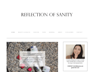 reflectionofsanity.blogspot.ca screenshot