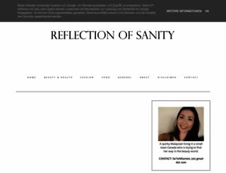reflectionofsanity.com screenshot