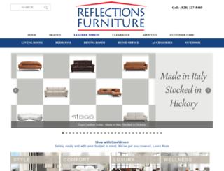 reflectionsfurniture.com screenshot