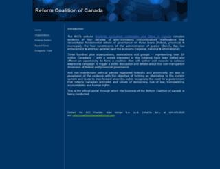 reformcoalitionofcanada.yolasite.com screenshot