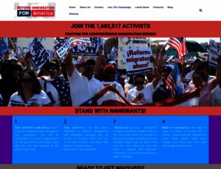 reformimmigrationforamerica.org screenshot