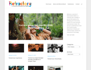 refractory.unimelb.edu.au screenshot