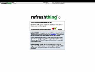 refreshthing.com screenshot