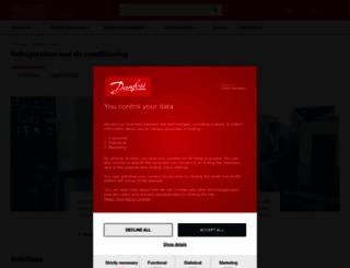 refrigerationandairconditioning.danfoss.in screenshot